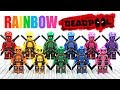 LEGO Deadpool's Rainbow Squad Mercs for Money Team Unofficial Minifigures