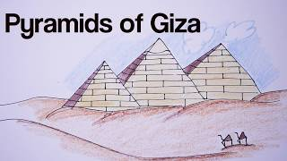 How to draw Giza pyramids