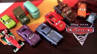 """5 Diecast Cars Acer """"Race Team Sarge"""" Professor Z Disney Lightning McQueen review by Blucollection"""