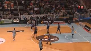 Video Resumen de las canastas del partido Cafés Candelas Breogán - Melilla Baloncesto