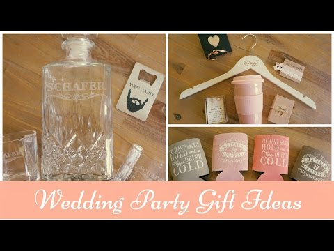 Bridal Party Gift Guide: Ideas for Groomsmen, Bridesmaids, Parents and Guests!