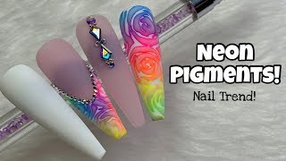 The Pigment Nail Art Trend    Gel Polish Nail Art