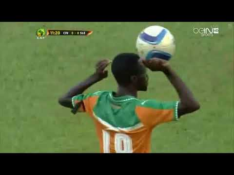 Ivory Coast   Sierra Leone  1   1  African Cup of Nations   halftime match 2016
