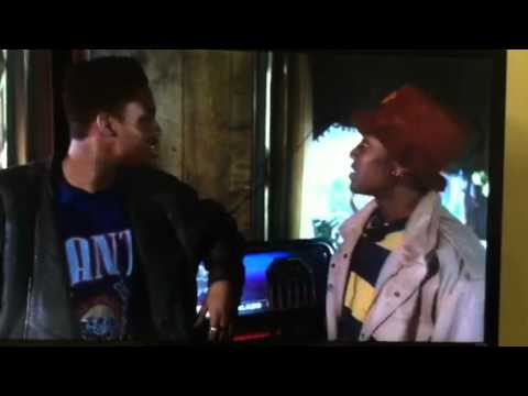 Blizzard Robs the bar. scene from Juice
