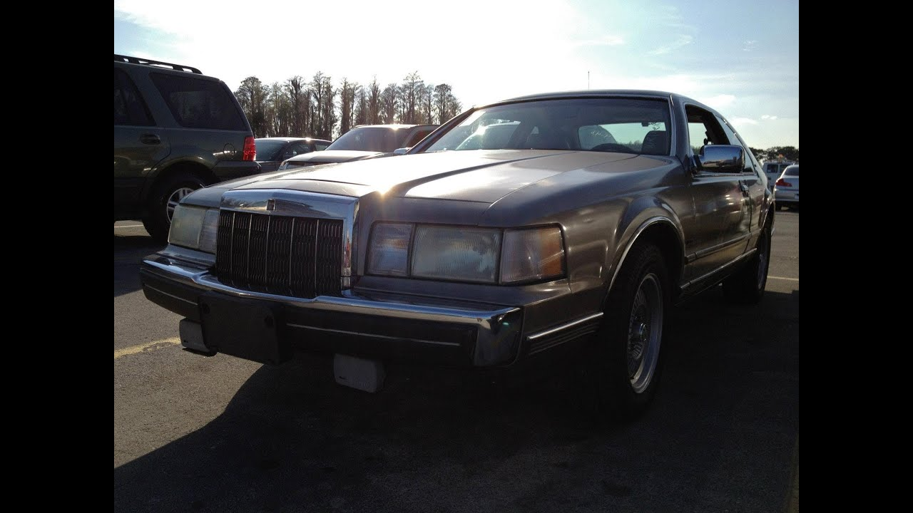 1989 Lincoln Mark 7 Lsc Start Up Amp Rev With Exhaust View