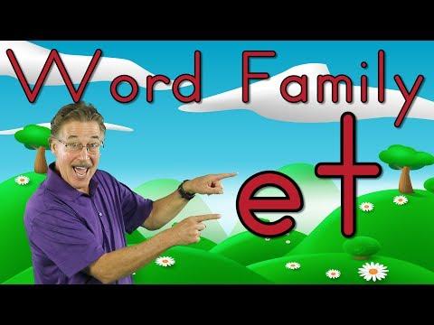Word Family -et | Phonics Song for Kids | Jack Hartmann