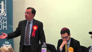 Andrew Dismore explain why he wants Trident scrapped at Hendon Synagogue