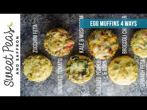 Healthy Breakfast Egg Muffins (4 Ways)