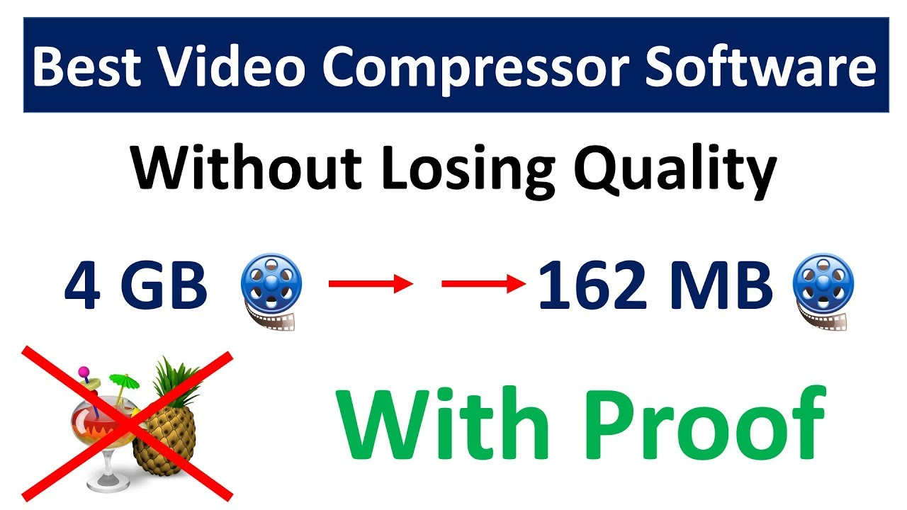 how to reduce video file size without losing quality || best video  compressor without losing quality