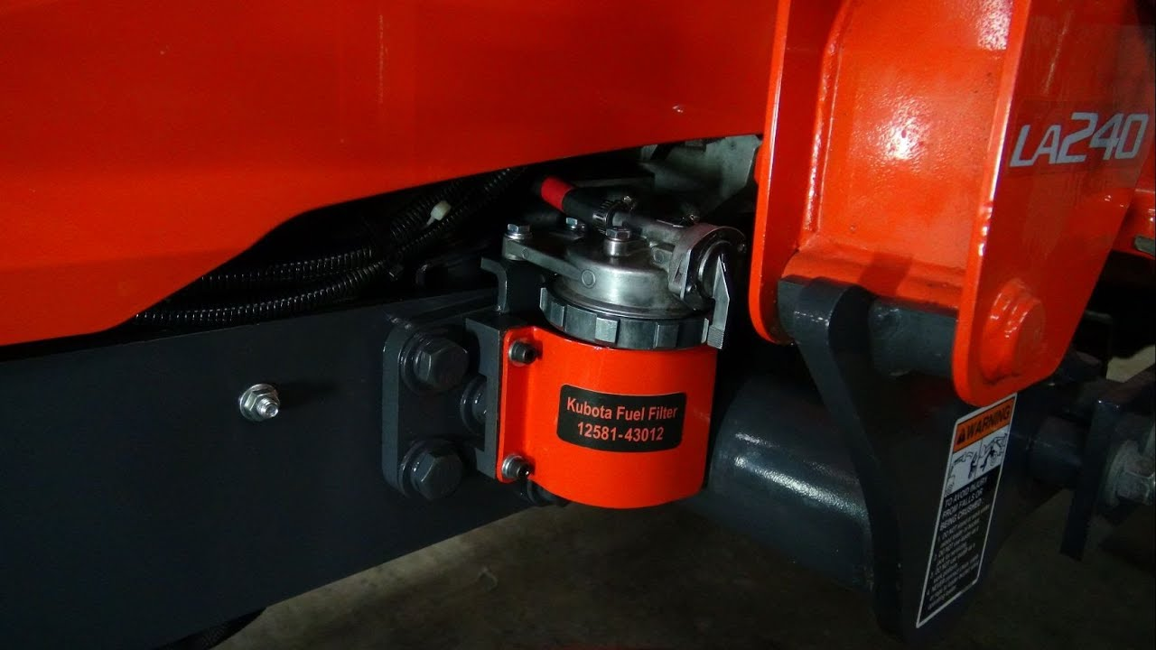 Kubota BX25 D Fuel Filter Custom Guard