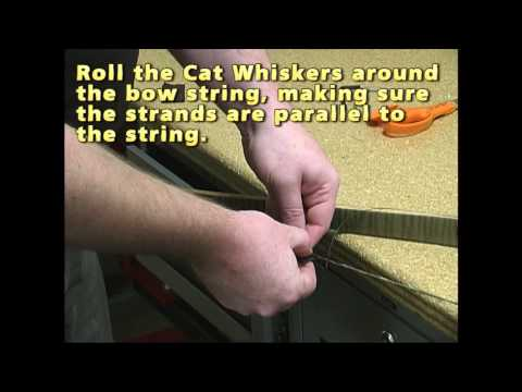 3Rivers Archery How to Install Cat Whiskers (Puff Ball Style) on a Bow