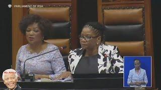 EFF vs Baleka Mbete And Jacob Zuma. Chaos At SONA 2016