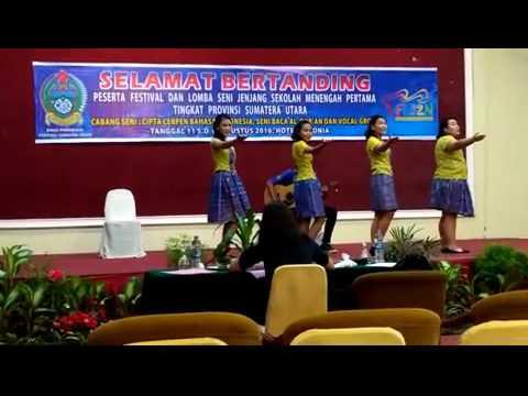 Begini Aksi Juara 1 FLS2N SMP Vokal Group 2016 Provinsi Sumatera Utara
