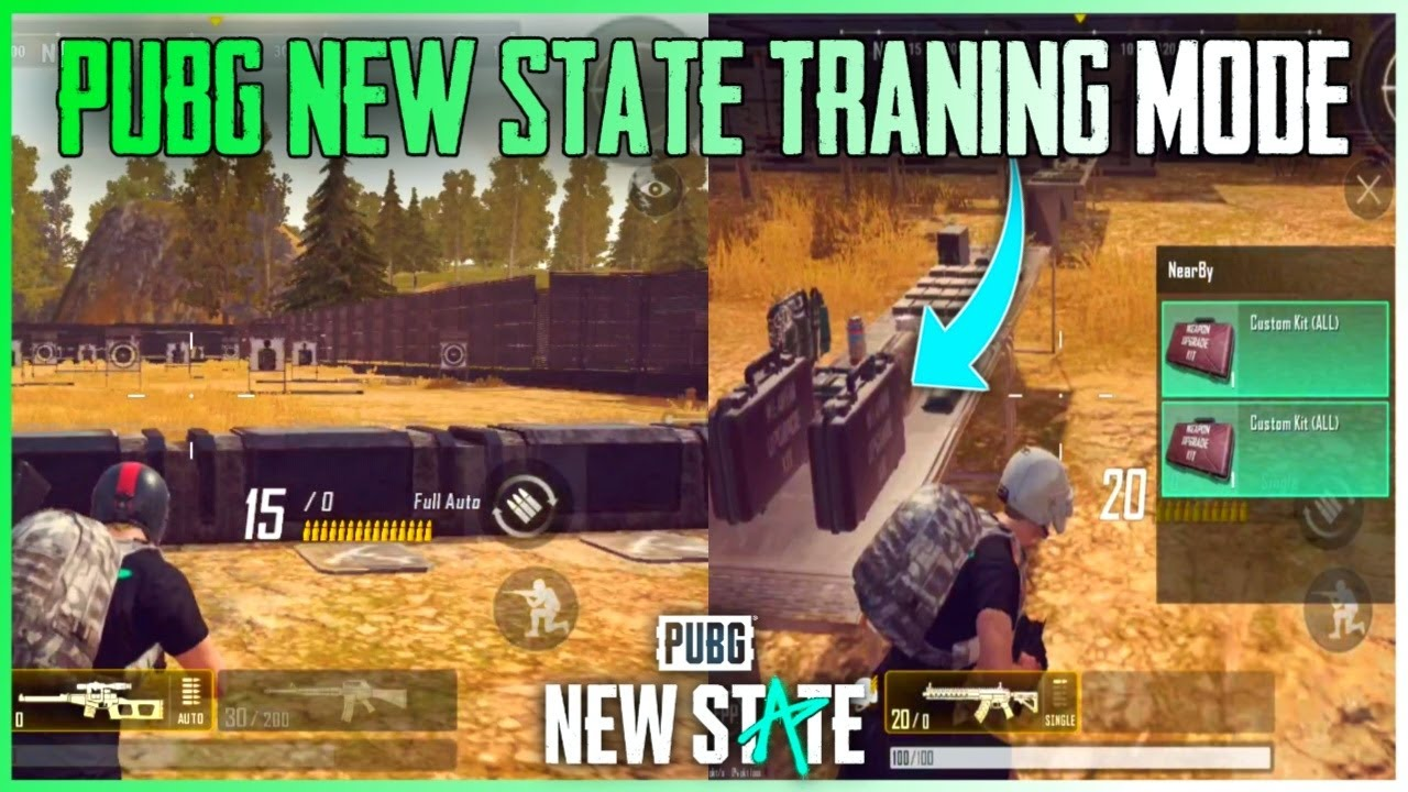 PUBG NEW STATE GRAPHIC SETTINGS  & TRANING MODE GAMEPLAY