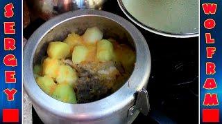 Тушёная Картошка с мясом(Stewed potatoes with meat)