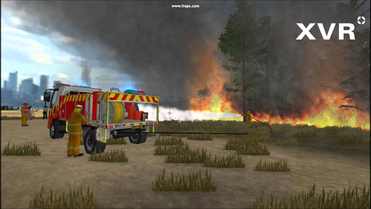 NSW Rural Fire Service wildfire demo with XVR - YouTube
