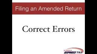 Filing An Amended Return