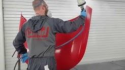 Painting hood vertical (minimize dust)