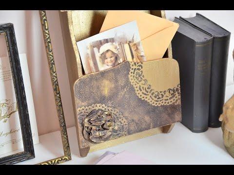 Tortacsipkés levéltartó  // Letter holder with paper lace