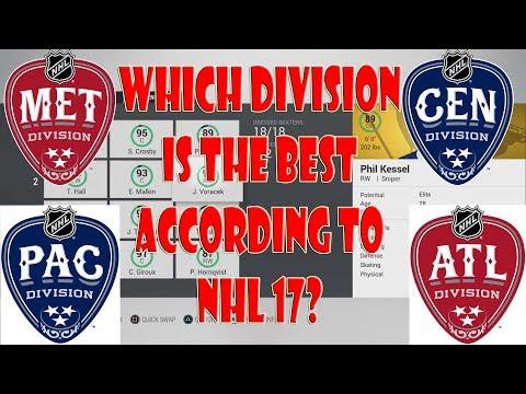 Best Division? Pacific vs Central vs Atlantic vs Metro NHL 17