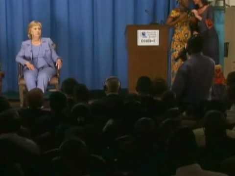 Hillary Snaps On Student