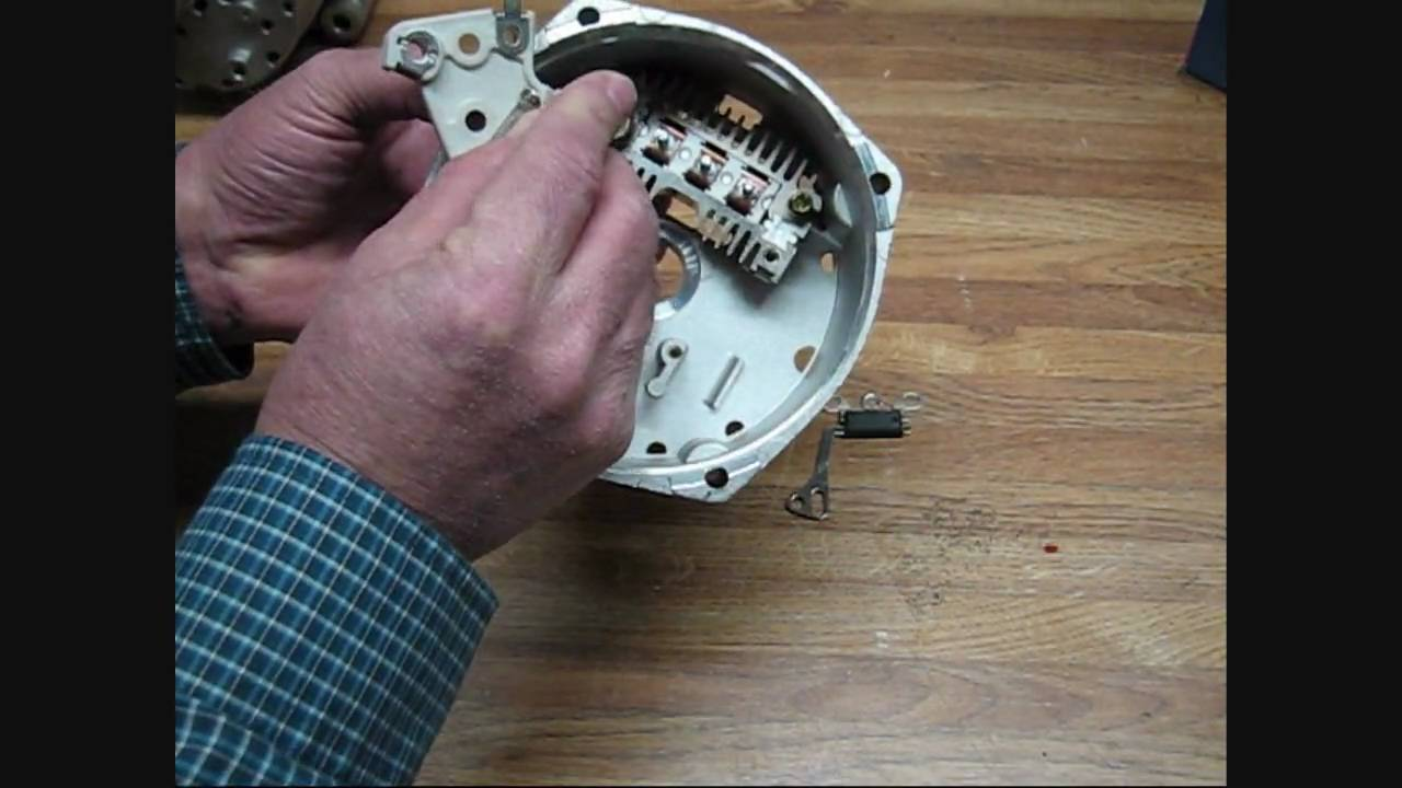 hight resolution of delco remy gm 10si type 6 volt positive ground alternator conversion