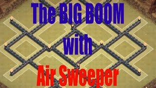 Clash of Clans | TH8 War Base WITH AIR SWEEPER | The BIG BOOM | Anti Air & Hog