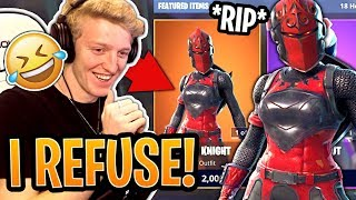 Tfue REFUSES to Buy His *OG* Red Knight Skin Back From the Item Shop! - Fortnite Moments