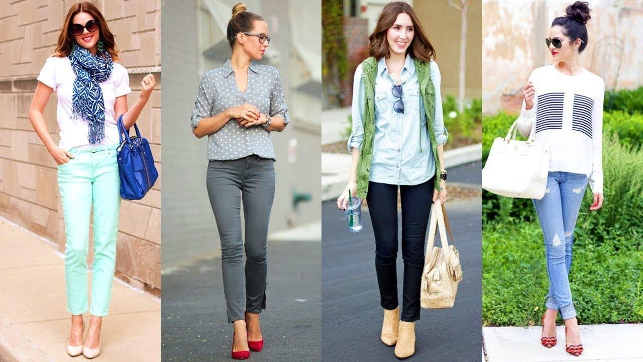 Jeans con tacones de moda 2018 youtube - Con 2 tacones ...