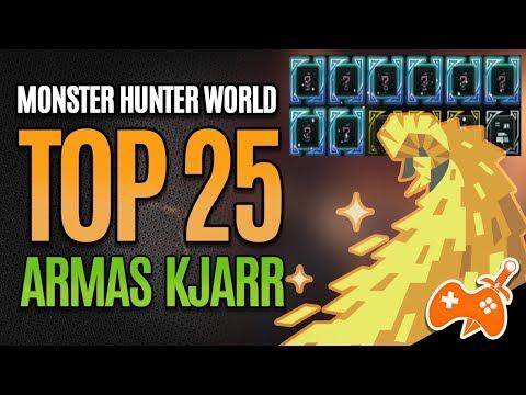 Monster Hunter World - TOP 25 Armas Kjarr  para se TER na coleção [DICAS AT Kulve] thumbnail