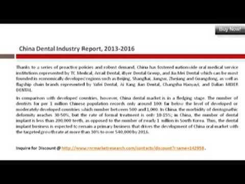 Market News: China Dental Industry Report 2013-2016