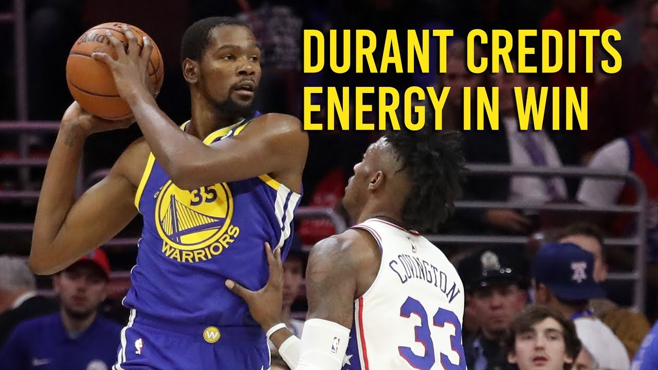 Kevin Durant on how Warriors turned 76ers game around