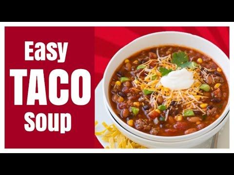 Easy chicken taco crock pot soup
