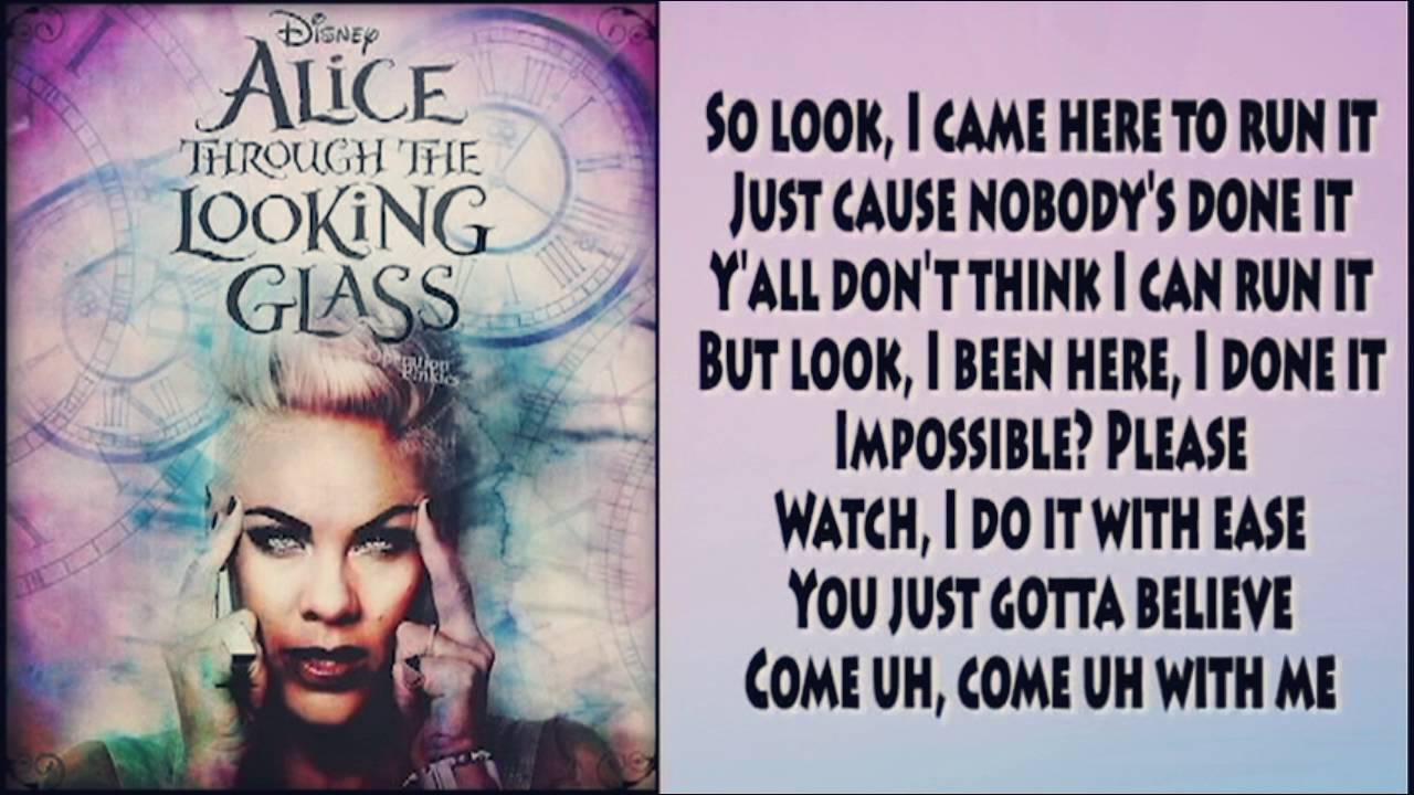 """Download P!nk - Just Like Fire ( from Disney's """"Alice Through The Looking Glass"""")"""
