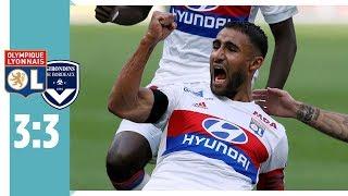 Olympique  Lyon - Girondins Bordeaux 3:3 / Last-Minute-Ausgleich von Malcom