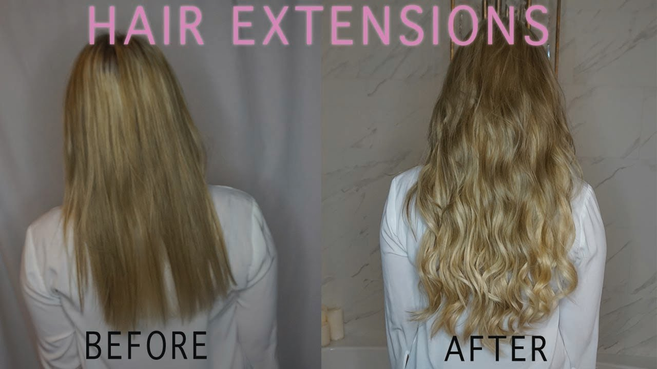 Hair Extensions Transformation Hand Beaded Wefts Damage Free