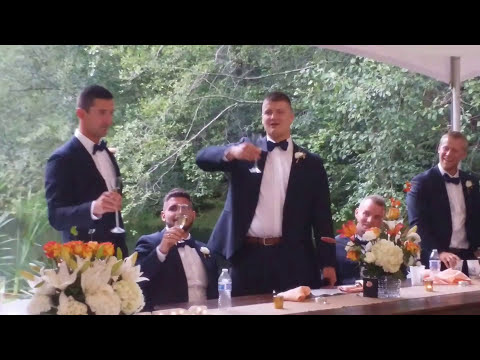 Little bro roasting big brothers at wedding Over 1 million views