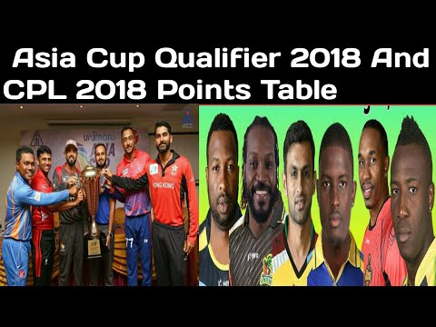 Asia Cup qualifier 2018 and CPL 2018 points table | Caribbean Premier League points table 2018