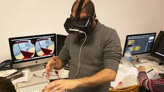 Virtual Reality with hands detection