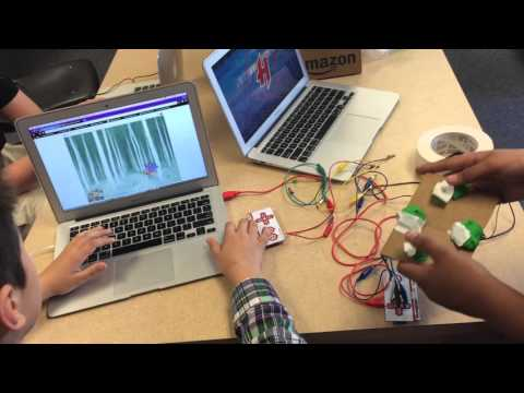 Making Video Games & Controllers with Scratch & Makey Makeys (5th Grade)