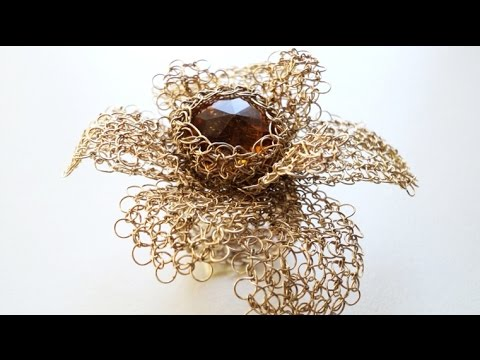 How To Wire Crochet Diy Crochet Jewelry Wire Youtube