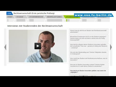 Rechtswissenschaft Studieren An Der Freien Universität Berlin