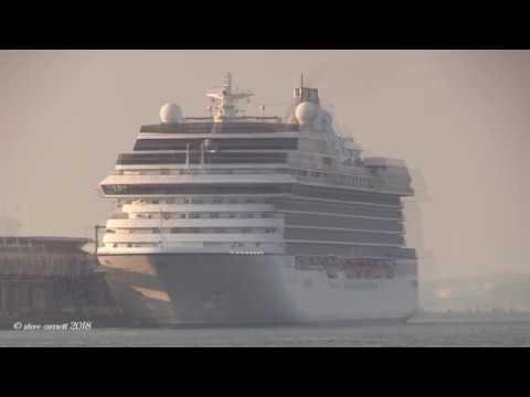 Oceania Cruises 'Marina' arriving QEII Cruise Terminal from Miami Florida 23/05/18