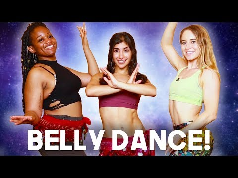 Learning How To BELLY DANCE! (feat. Leilah Isaac) - BELLY DANCE BASICS!