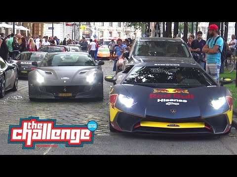 The Challenge 2016 in Vienna - F12 N-Largo S, Aventador SV,  F12 TDF and more!