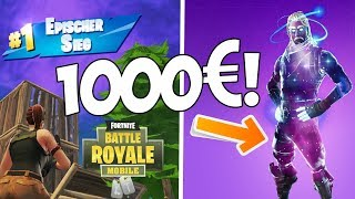 1000€ GALAXY SKIN & EPIC VICTORY! Fortnite Mobile