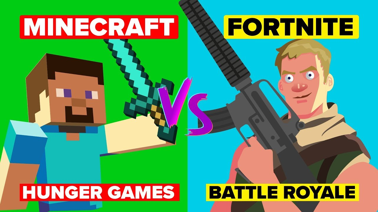 Minecraft Hunger Games VS Fortnite Battle Royale - Can Minecraft Overtake Fortnite