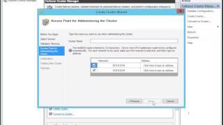 Windows Server 2012 Two Node Cluster