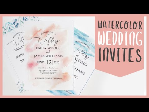 3 Easy DIY Watercolor Wedding Invitations