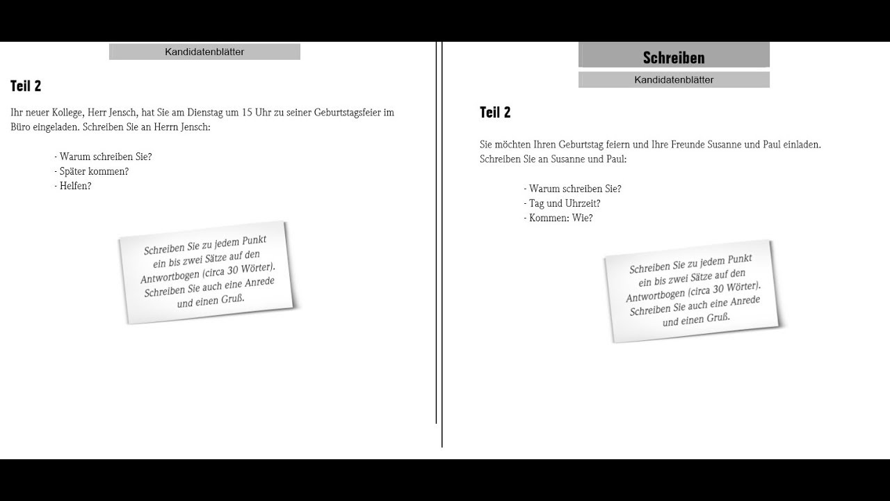 Goethe Zertifikat A1 Schreiben Start Deutsch 6exam Analysis And